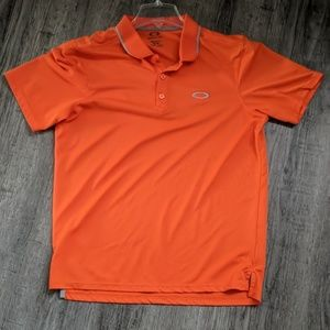 Oakley Men's Medium Orange Golf Polo